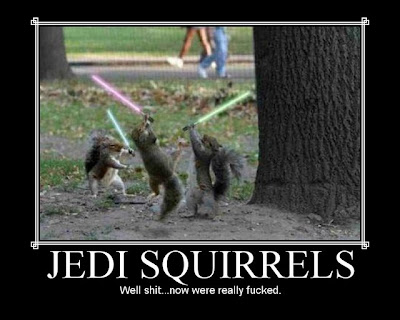 Jedi Squirrels Demotivational Poster