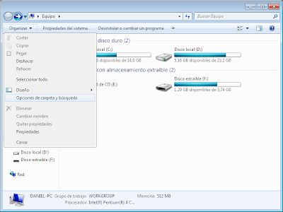 """Activar la opcion """"mostrar archivos y carpetas ocultos"""" en Windows o desactivada por virus 5"""