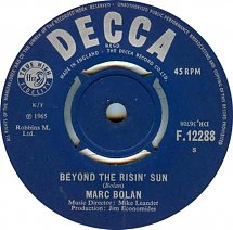 U Arrive In The Rising Sun marc bolan the wizard beyond the rising sun u k decca f 12288 1965 how ...