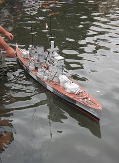 WWII model battleship