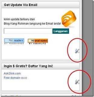 Menghilangkan Icon Obeng dan Tang / Quick Edit di Blog
