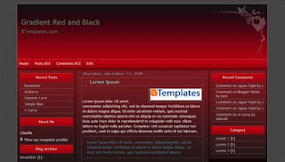 Free Blogger Template Gradient Red And Black