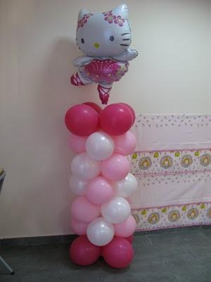 Decoracion con globos de hello kitty - YouTube