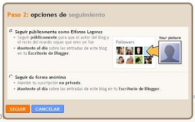 Seguidores en Blogger