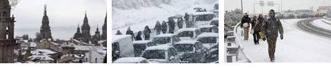 Nieva en España