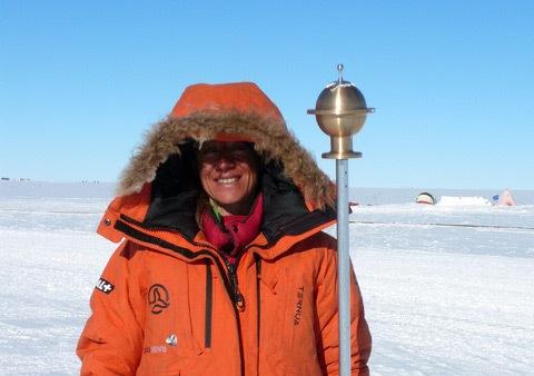 Chus Lago en el Polo Sur