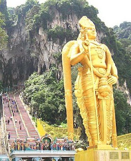 Batu Caves with Lord Murugan Statue