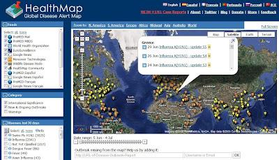 Healthmap using google map technology
