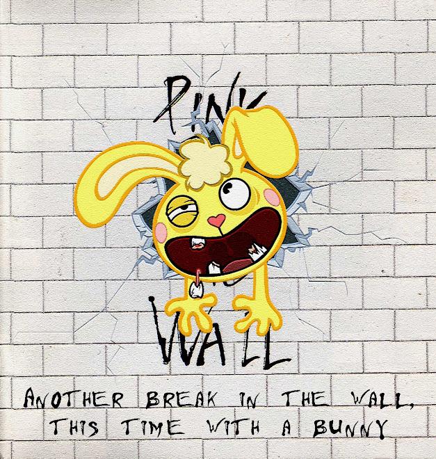 conejo contra el muro