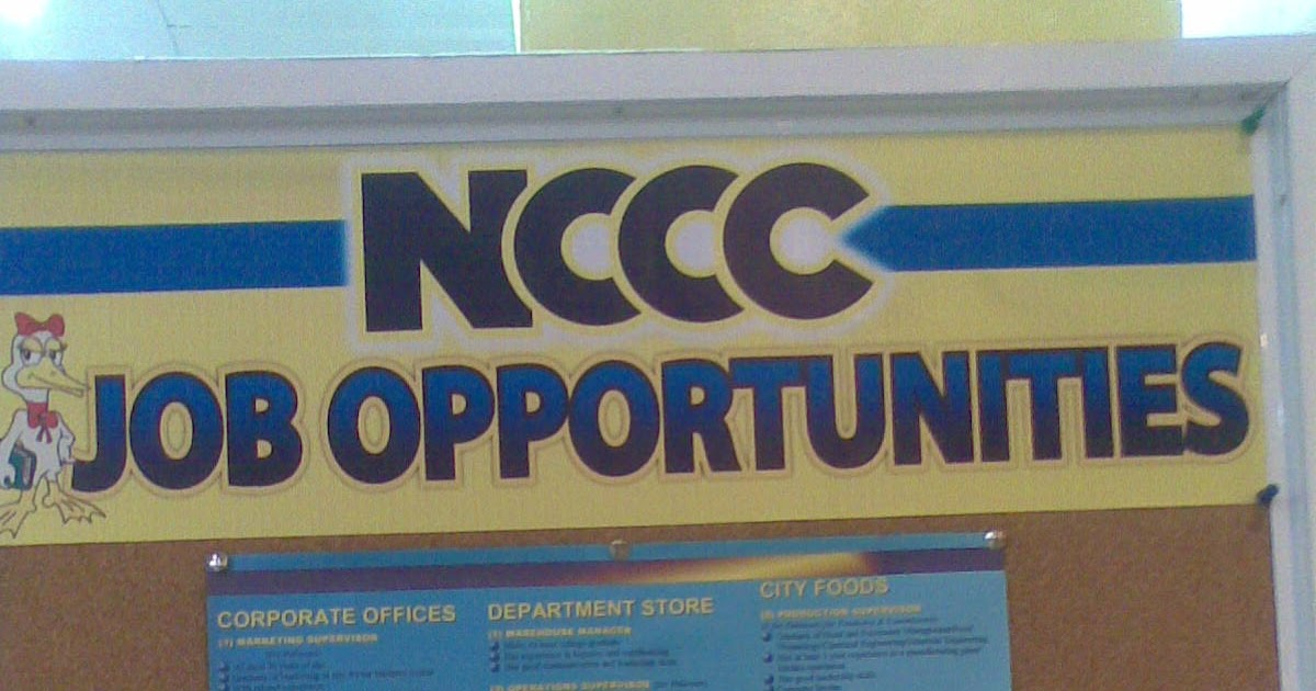 Davao Jobs Hiring 2018: NCCC Department Store is Now Hiring