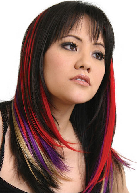 crazy color hairstyles. hair with blondes can get