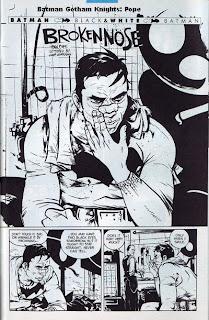 Batman nursing his broken nose
