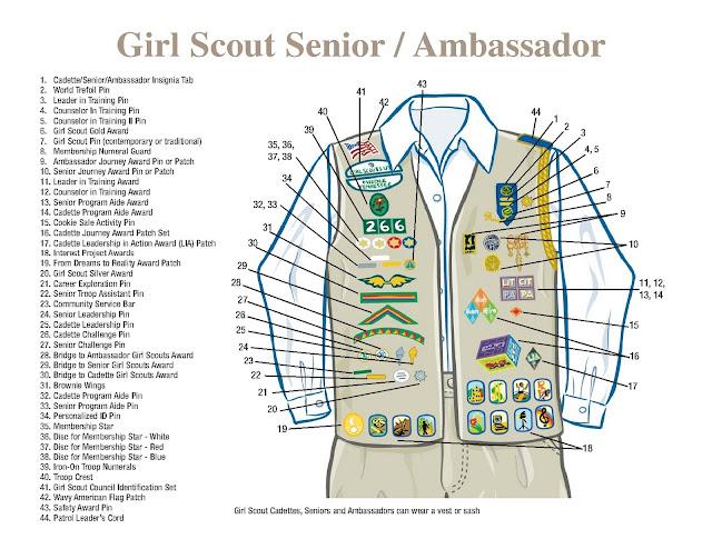 girl scout troop 1905 cadette sash and vest