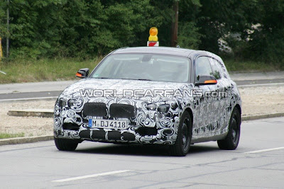 First seen three-door version of the BMW 1 series spyshots
