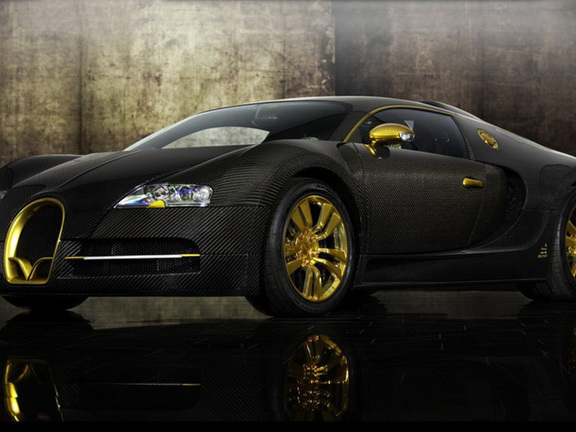 mansory dress in gold and carbon fiber bugatti veyron. Black Bedroom Furniture Sets. Home Design Ideas