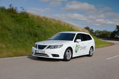 First electric Saab: 9-3 ePower