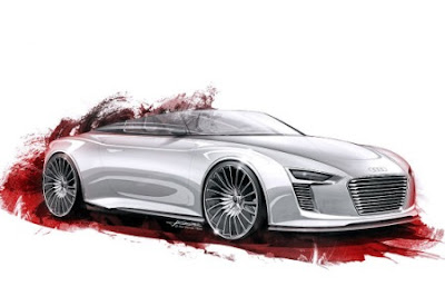 First images of Audi e-tron Spyder sketch