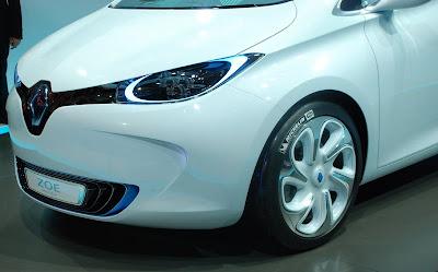 Electric Car Renault ZOE live paris 2010