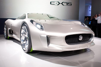Jaguar C-X75 concept  production new live photos Paris 2010