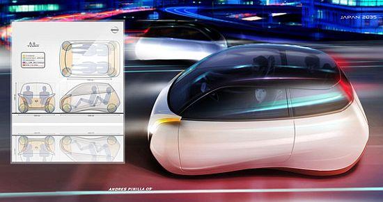 2030 Concept Electric Car Nissan ToriiYear 2030 Cars