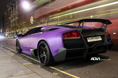 Purple and matt Lamborghini Murcielago LP670 SV Car reviews:Purple and matt Lamborghini Murcielago LP670 SV