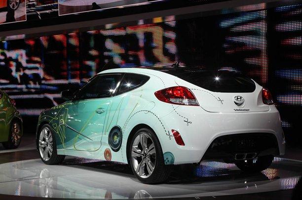 Hyundai Veloster Coupe 2012 Live Photos Detroit Auto Show 2011