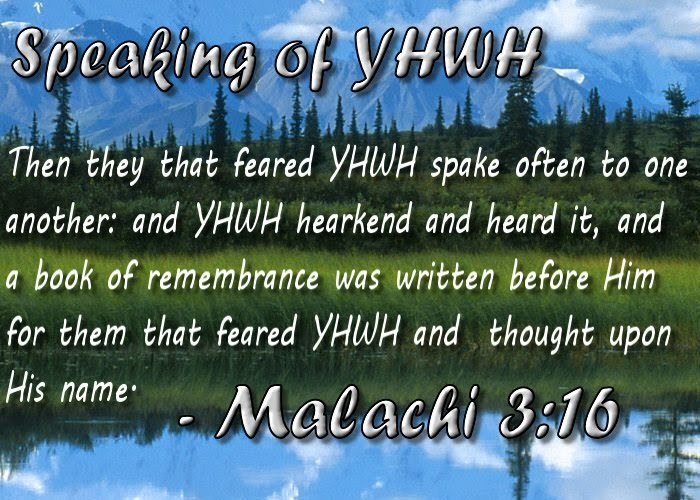 Speaking of YHWH