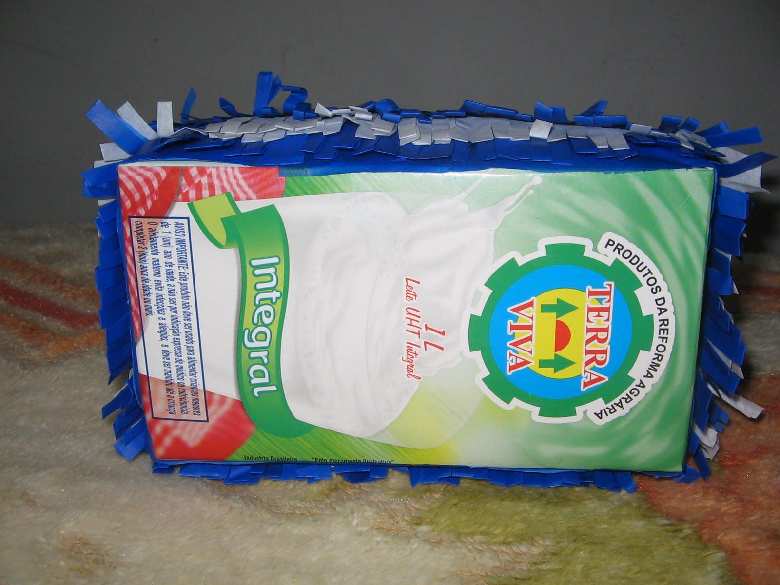 Como fazer cesta de páscoa com caixa de leite