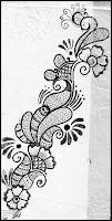 beautiful mehndi sketchs