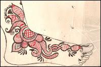 indian mehndi sketchs