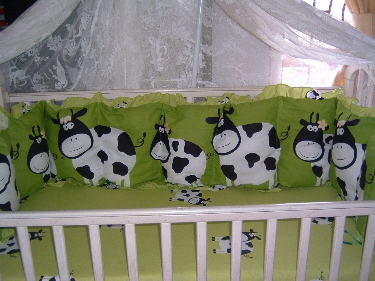 Mintul Online Shop Baby Bed Sheet Sapi Ijo