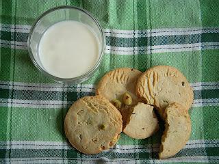 Cookies pistache chocolat blanc