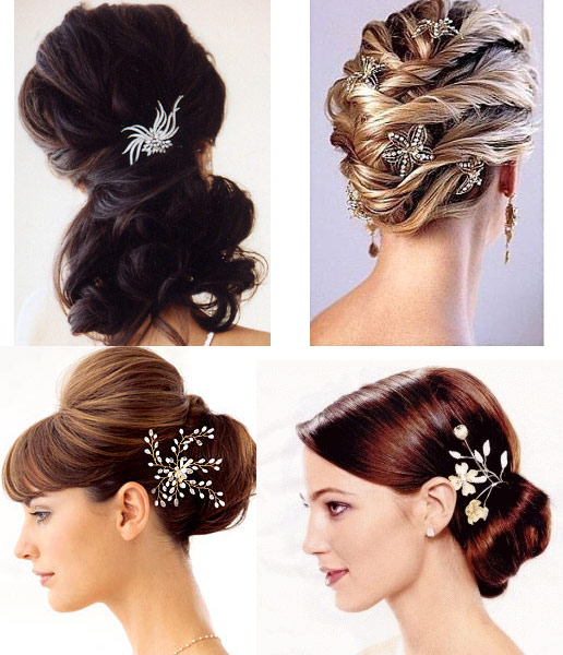 bride hairstyles photos. Where To Place Accessories in Bridal HairStyles