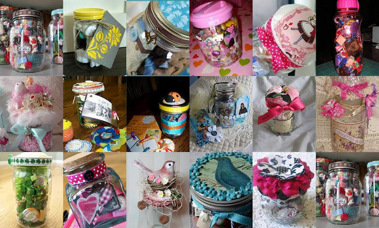 Whimsey Jars-A Collage