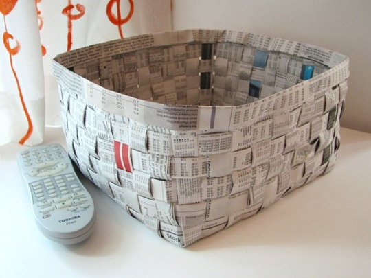 How To Weave A Basket From Old Newspaper : Welcome to whimsey make baskets from old newspapers