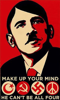 Choose Ideology of Obama in Hitler moustache