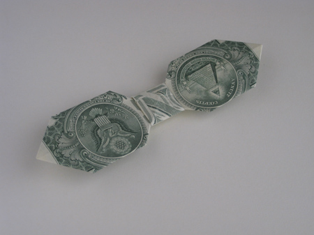 dollar bill origami butterfly. Money Origami Bow Tie