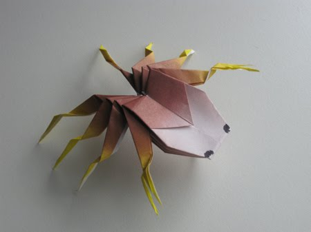 Here are the origami crab