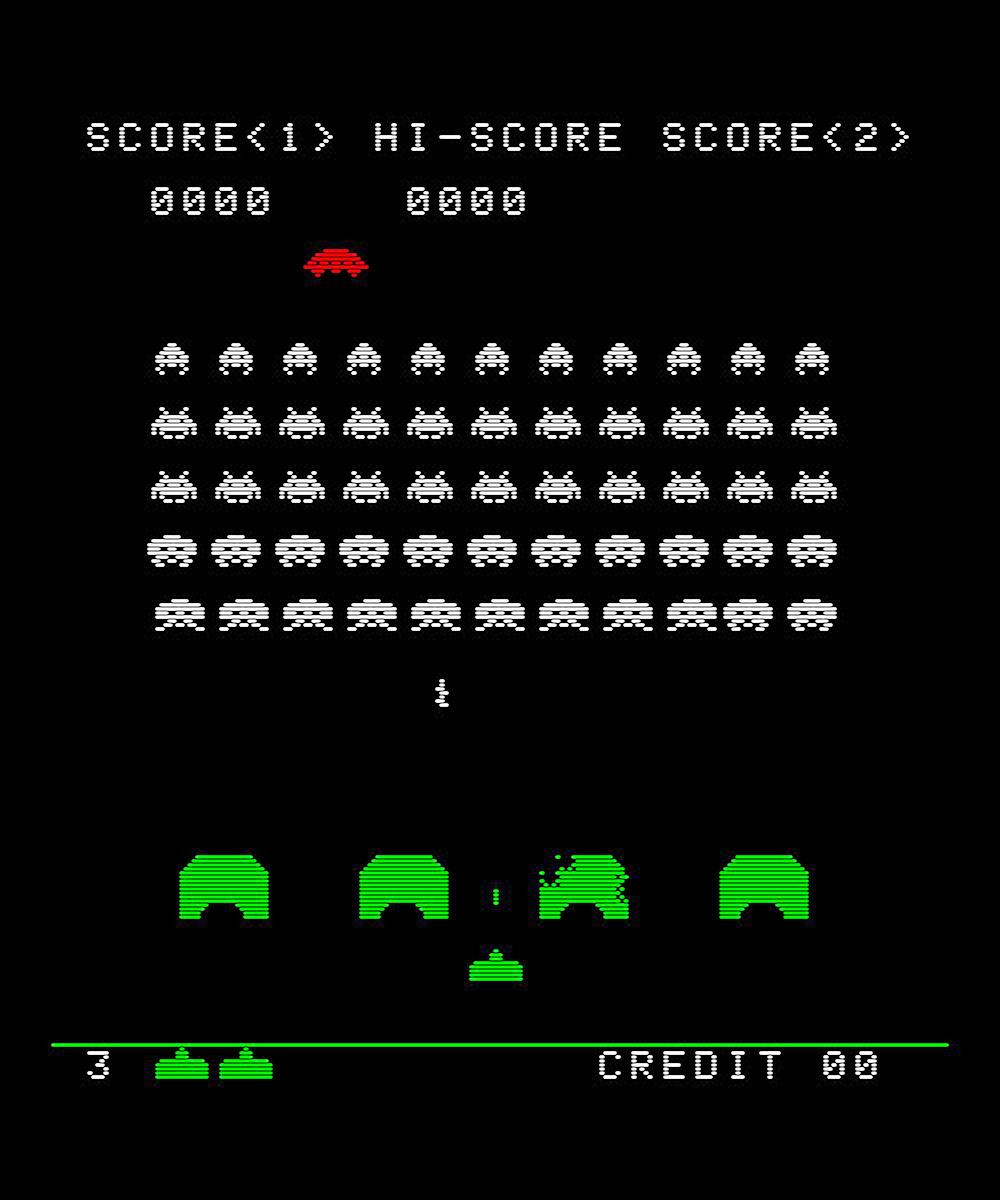 Videojuegos de toda la vida: Space Invaders  Space Invaders Spaceship