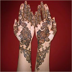 Wedding Mehndi Henna Tattoos On Hand Picture 9