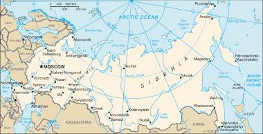 Mapa Federacji Rosyjskiej