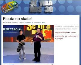 Lucas Lima, da Família Falcote, no Se vira nos 30 da Globo!!
