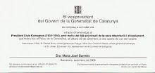 Homenatge a Lluís Companys
