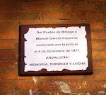 Placa homenaje a Manuel J. García Caparrós