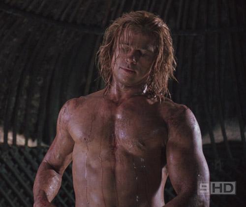 Brad Pitt's chest.