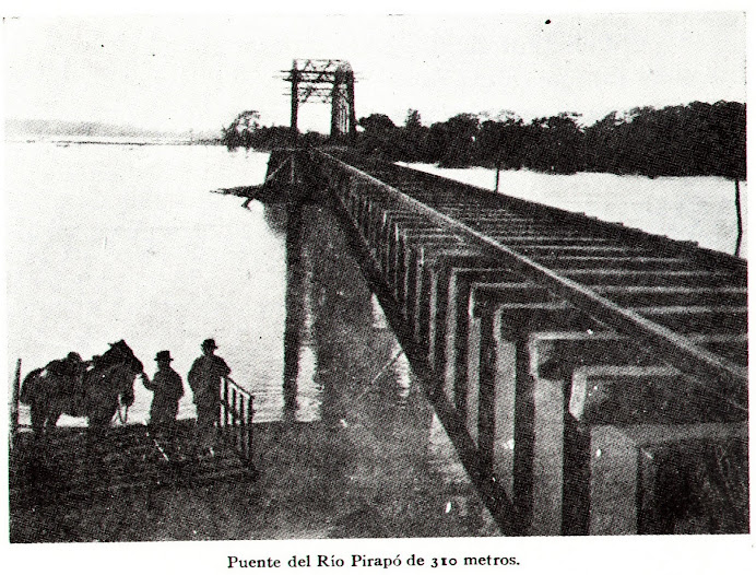 Foto antigua del Puente Pirapó. 1