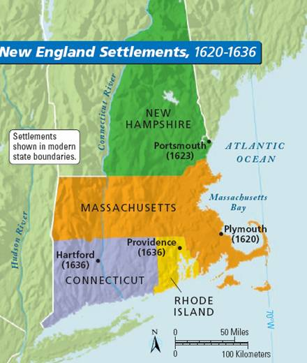 a history of the first colonies of new england Us history i chesapeake colonies: virginia, maryland all virginia differed considerably from the new england colonies under baltimore's urging, the colonial assembly passed the act of religious toleration, the first law in the colonies granting freedom of worship, albeit only.