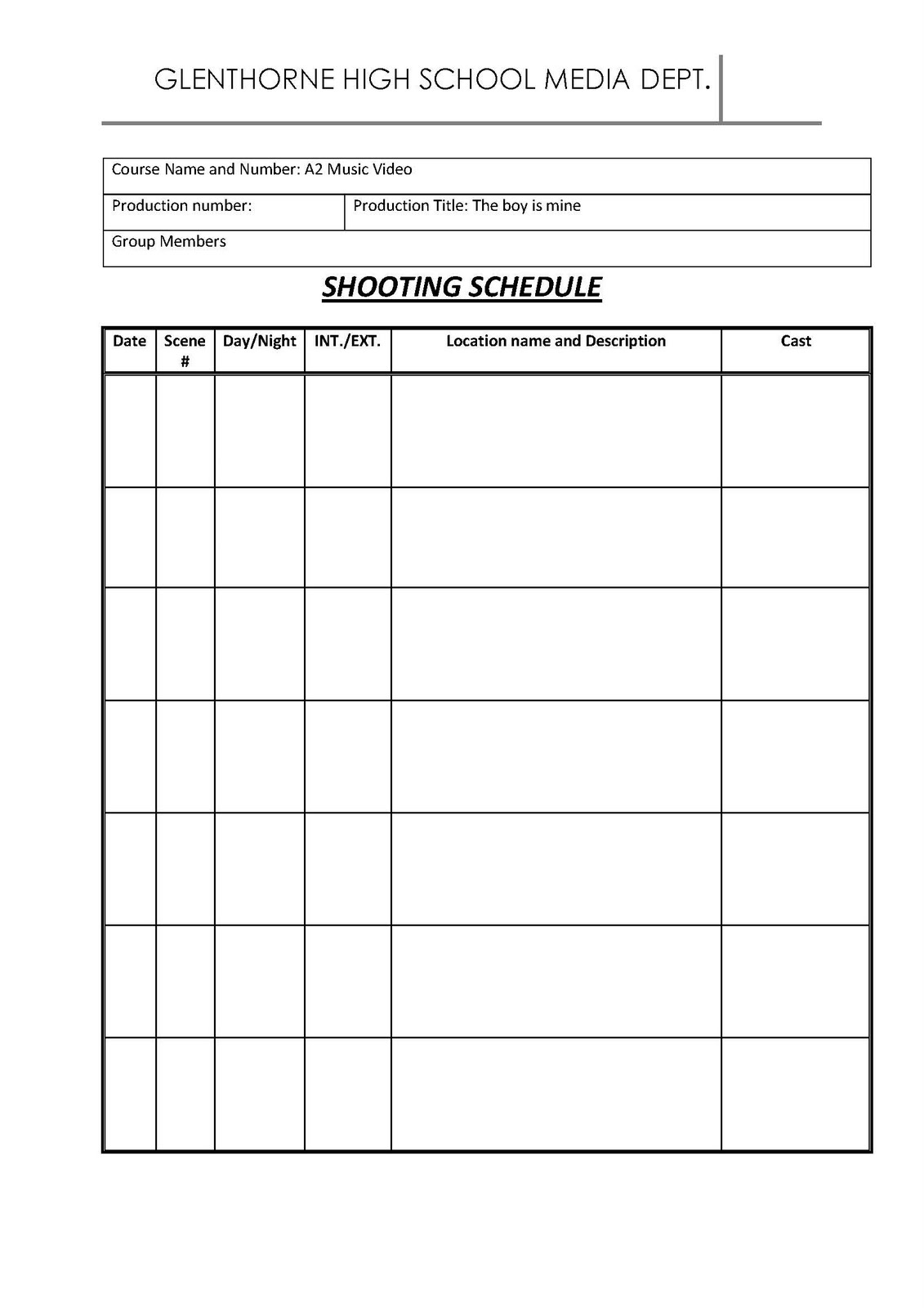 gabrielle roachford 12 shooting schedule. Black Bedroom Furniture Sets. Home Design Ideas