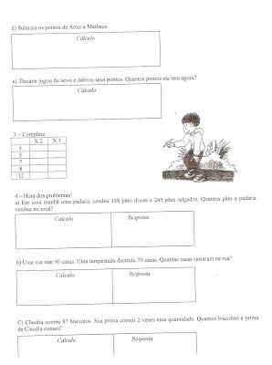 Digitalizar0015 Prova de Matemática para 3 ano! para crianças
