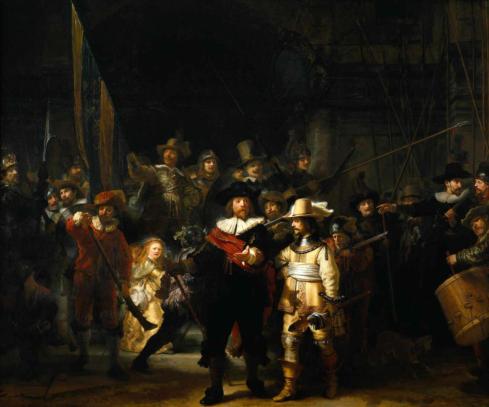 introdrawingjoy: Rembrandt- The Night Watch